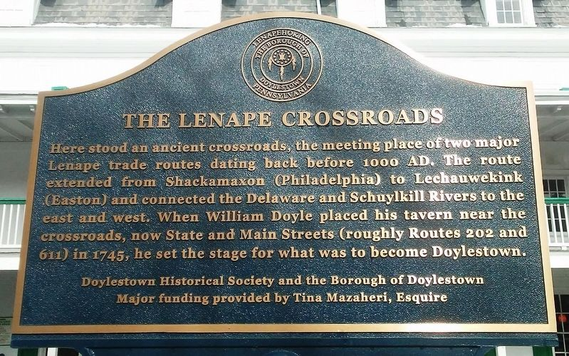 The Lenape Crossroads Marker image. Click for full size.