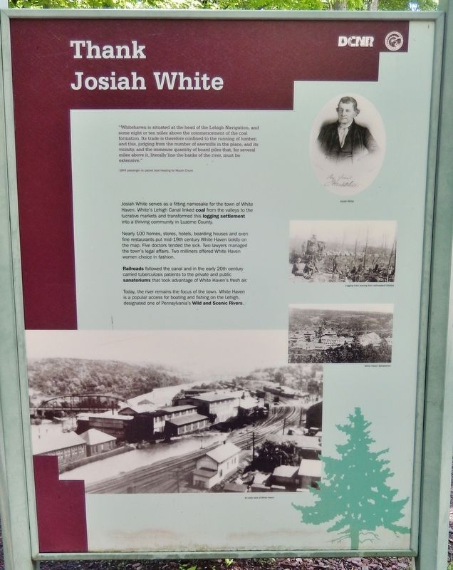 Thank Josiah White Marker image. Click for full size.