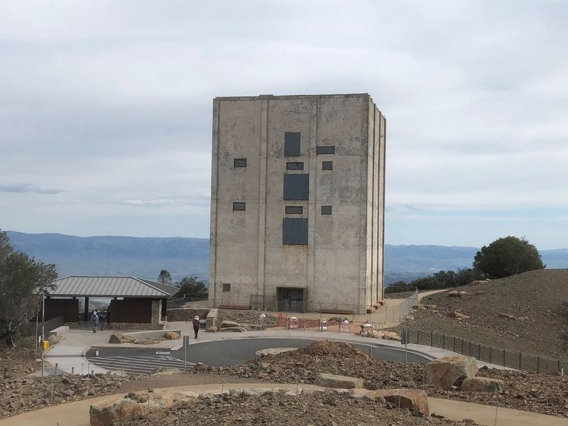 The Summit Shelter is to the left of the Mount Umunhum Radar Tower image. Click for full size.