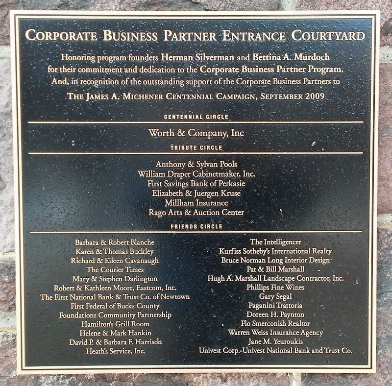 Corporate Business Partner Entrance Courtyard Marker image. Click for full size.