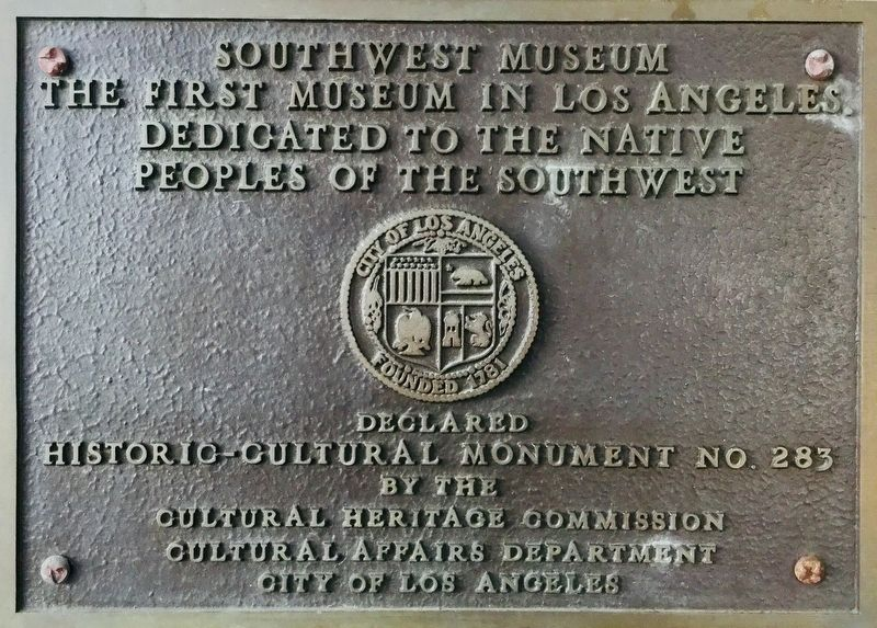 Southwest Museum Marker image. Click for full size.