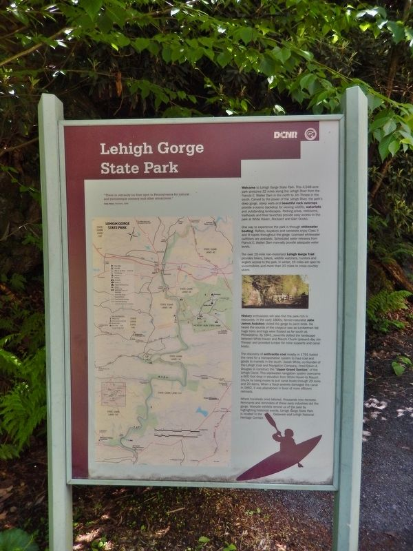 Lehigh Gorge State Park Marker image. Click for full size.