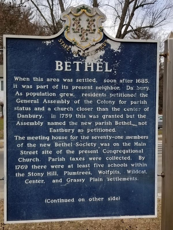 Bethel Marker image. Click for full size.