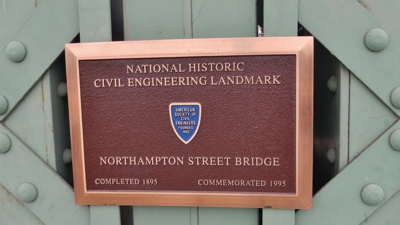 National Historic Civil Engineering Landmark plaque (<i>mounted on beam near marker</i>) image. Click for full size.