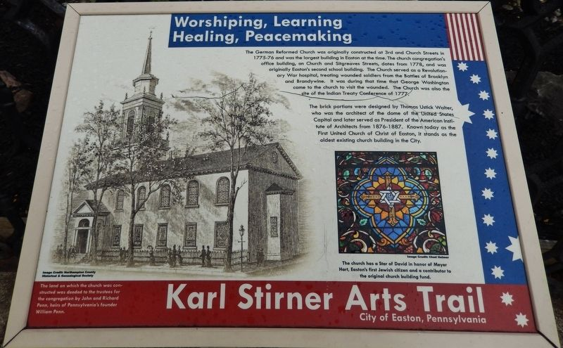 Worshipping, Learning, Healing, Peacemaking Marker image. Click for full size.
