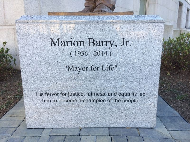 Front of Marion Barry, Jr. Marker image. Click for full size.