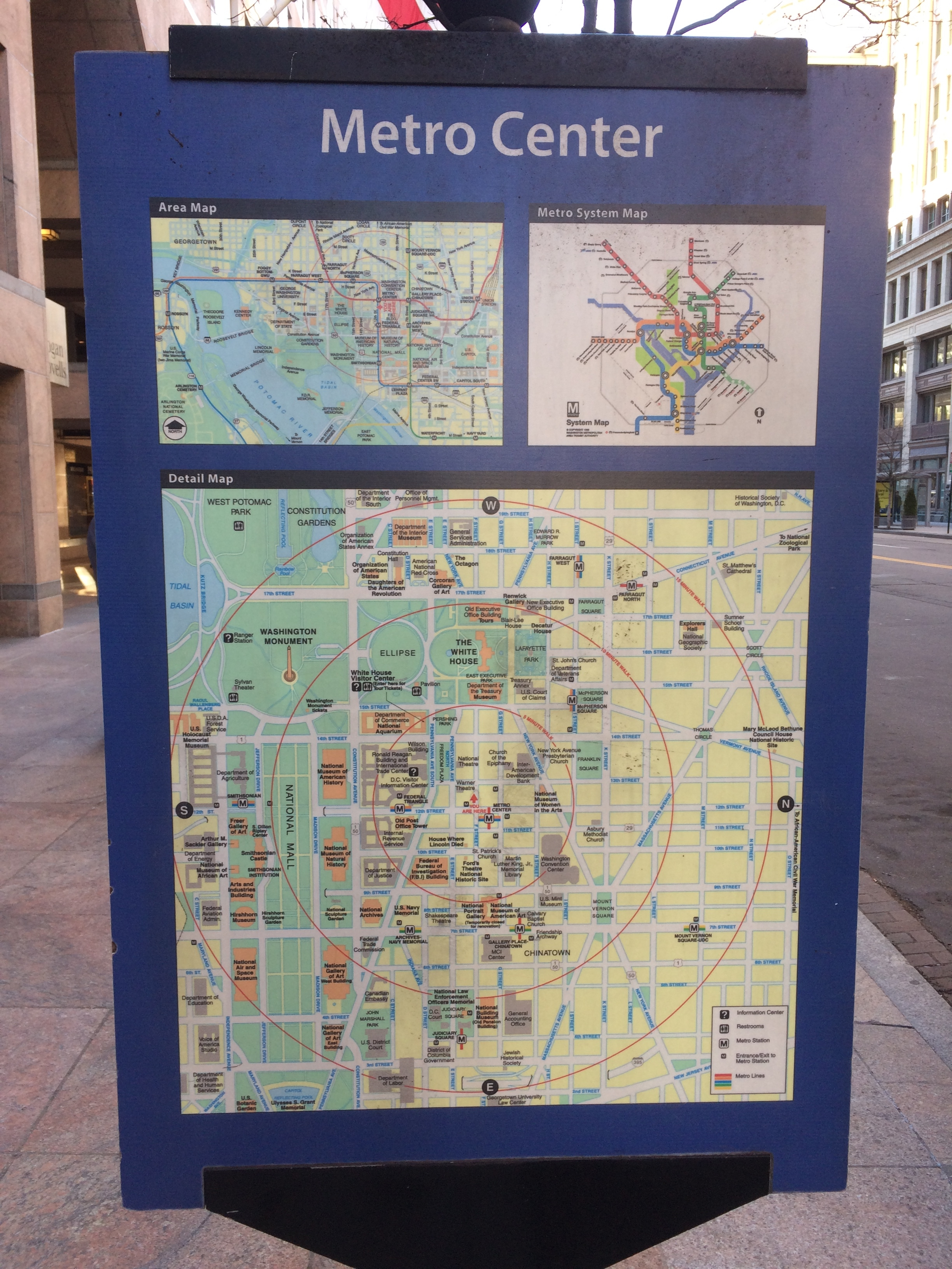 Discover DC / Metro Center Marker