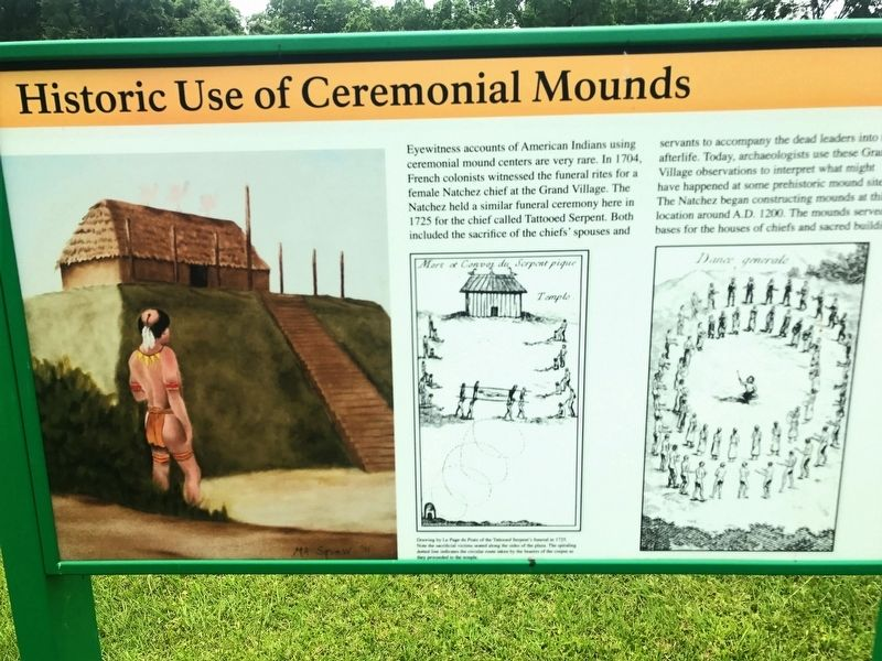 Historic Use of Ceremonial Mounds Marker image. Click for full size.