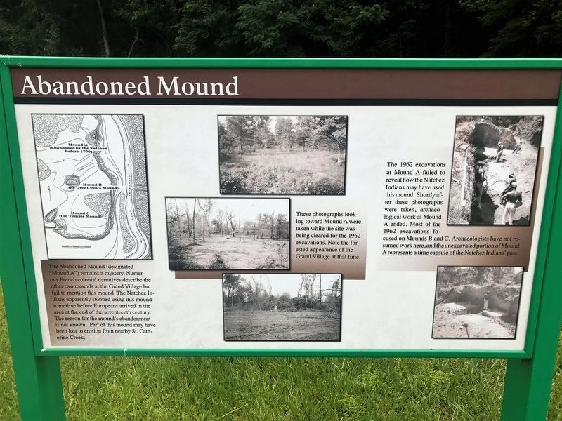 Abandoned Mound Marker image. Click for full size.