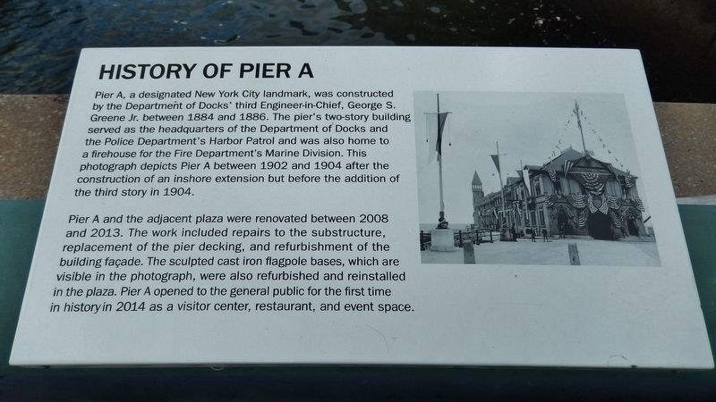 History of Pier A Marker image. Click for full size.