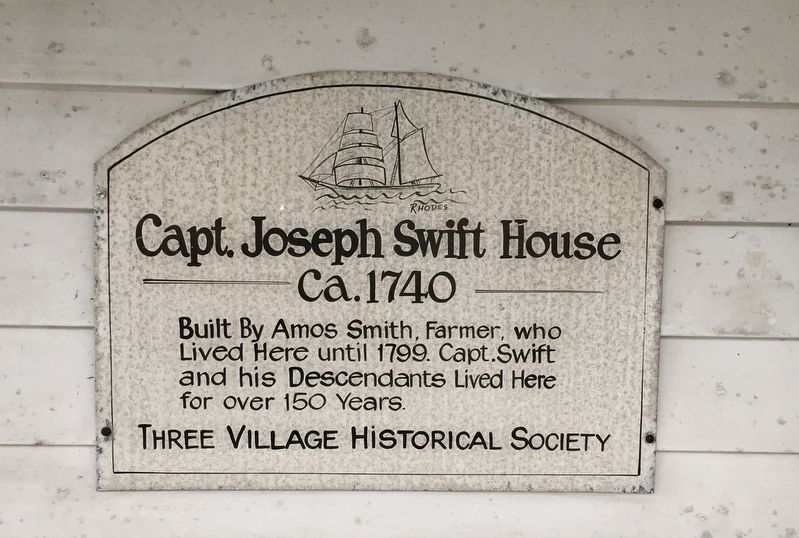 Capt. Joseph Swift House Marker image. Click for full size.