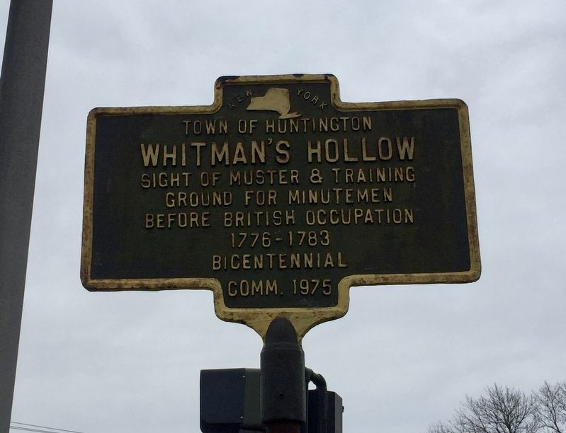 Whitman's Hollow Marker image. Click for full size.