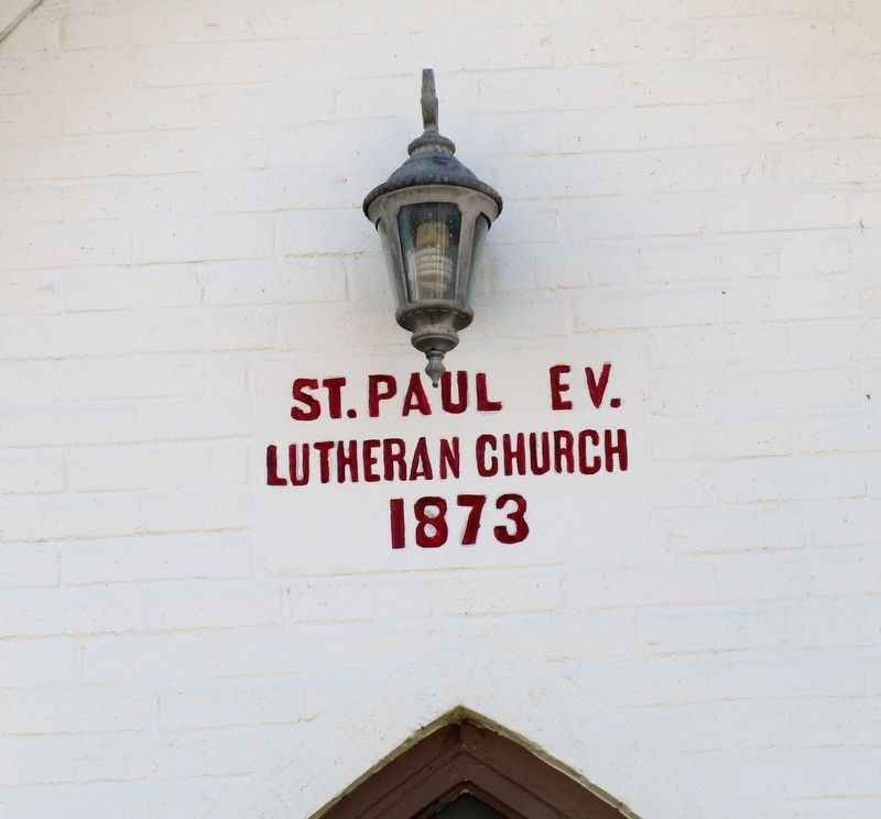 St Paul Lutheran Church Dog Leg Road, Dayton Marker image. Click for full size.