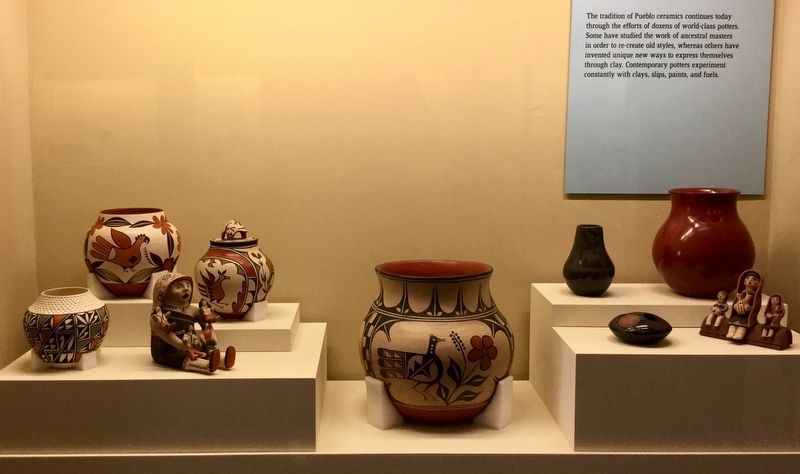 Museum Display of modern ceramics image. Click for full size.