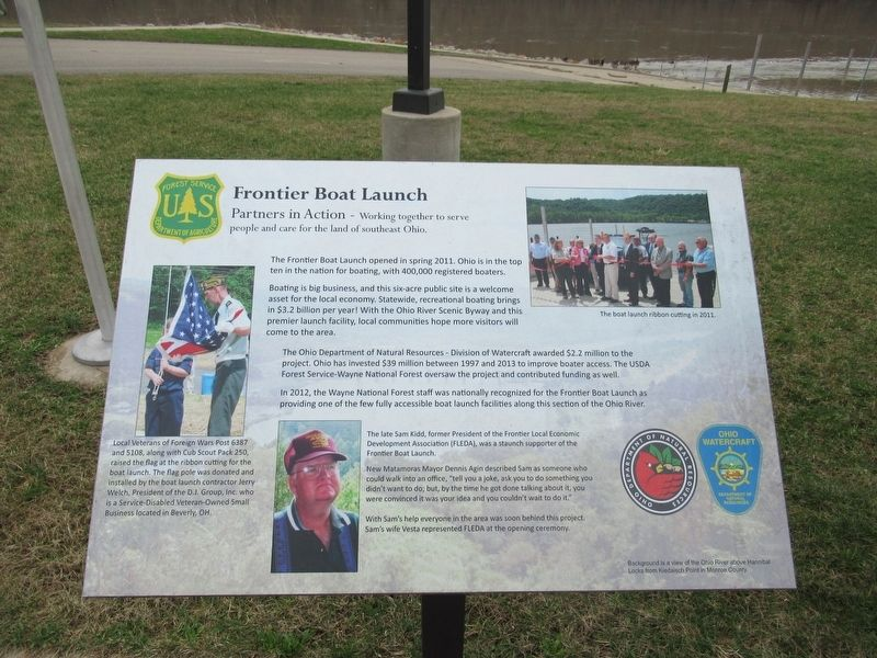 Frontier Boat Launch Marker image. Click for full size.