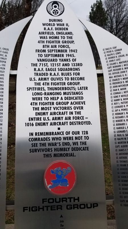 Fourth Fighter Group Memorial image. Click for full size.