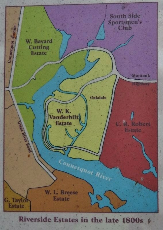 Marker detail: Connetquat riverside estates in the late 1800s image. Click for full size.
