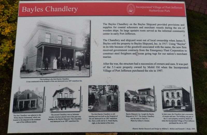 Bayles Chandlery Marker image. Click for full size.