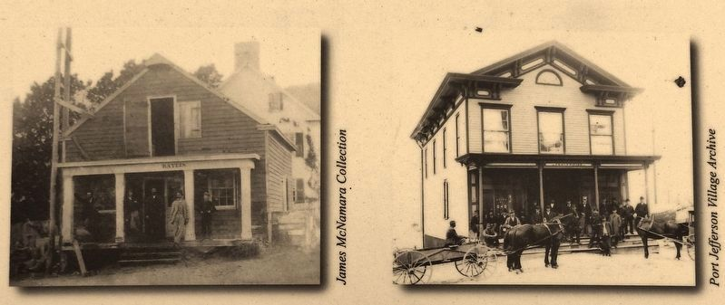 Marker detail: first and second Bayles Chandlery buildings image. Click for full size.
