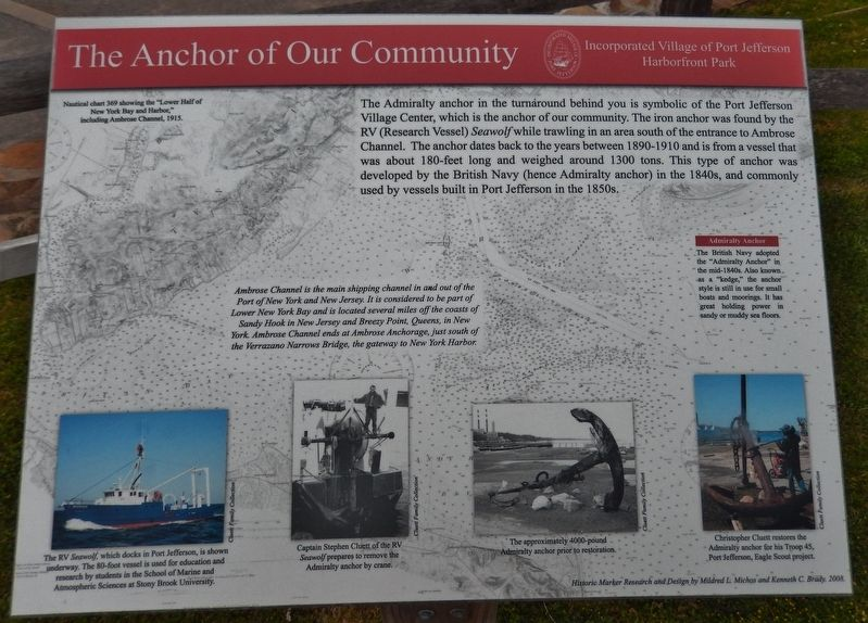 The Anchor of Our Community Marker image. Click for full size.