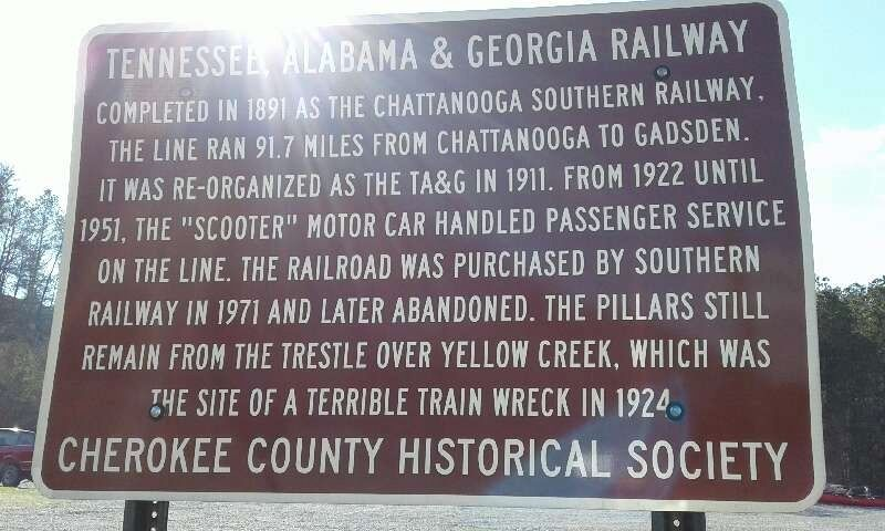 Tennessee Alabama & Georgia Railway Marker image. Click for full size.