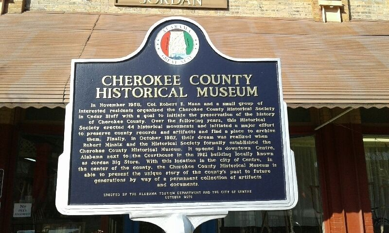 Cherokee County Historical Museum Marker image. Click for full size.
