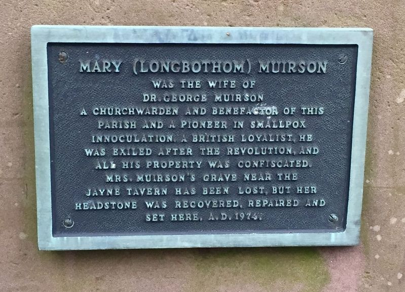 Mary (Longbothom) Muirson Marker image. Click for full size.
