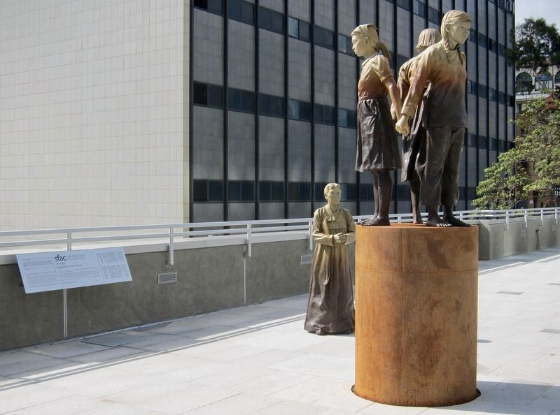"""Comfort Women"" Column of Strength and Marker - Wide View image. Click for full size."