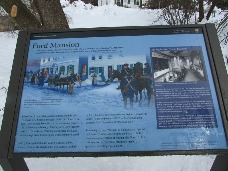 Ford Mansion Marker image. Click for full size.