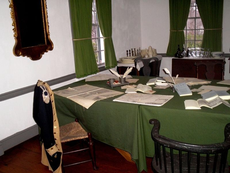 War Room in Ford Mansion image. Click for full size.