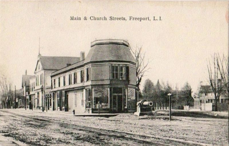 Main & Church Streets, Freeport, L.I. image. Click for full size.