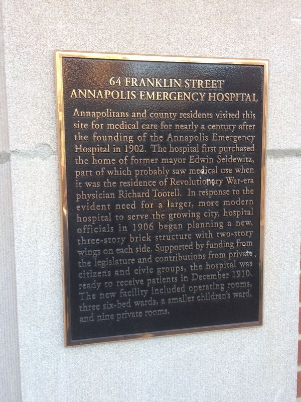 64 Franklin Street Marker image. Click for full size.