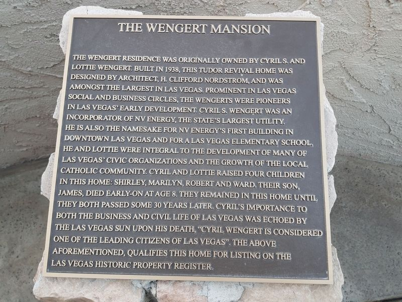 The Wengert Mansion Marker image. Click for full size.