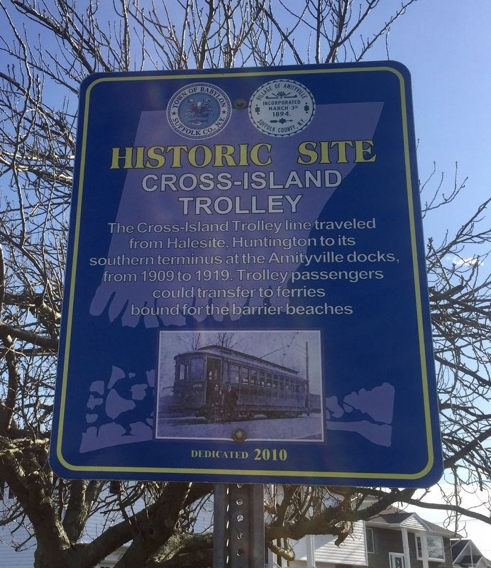 Cross-Island Trolley Marker image. Click for full size.