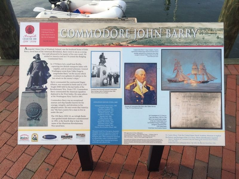 Commodore John Barry Marker image. Click for full size.