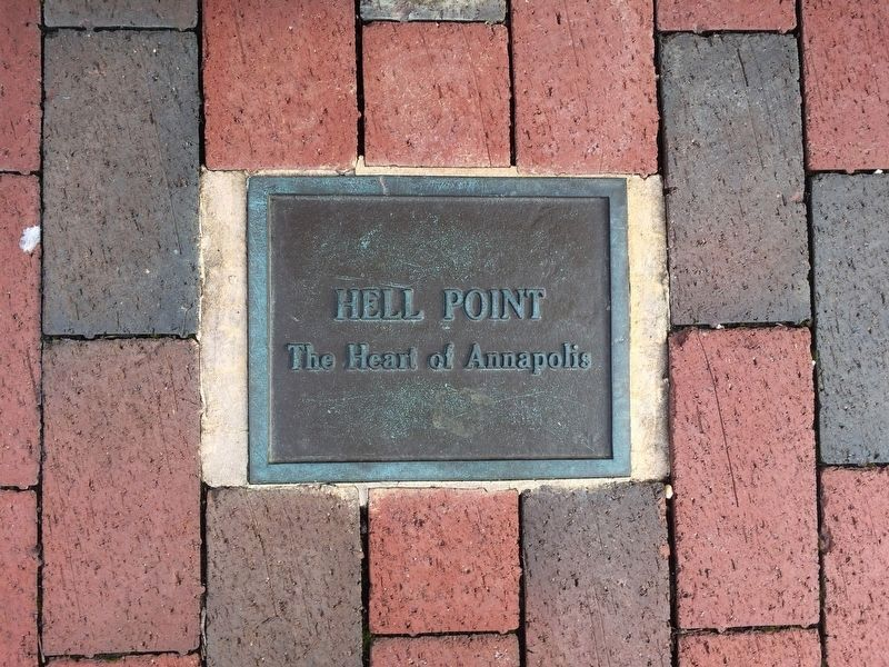 Hell Point Plaque located on the F Dock off of Compromise Street image. Click for full size.