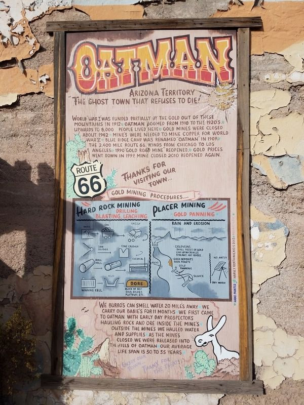 Oatman Marker image. Click for full size.