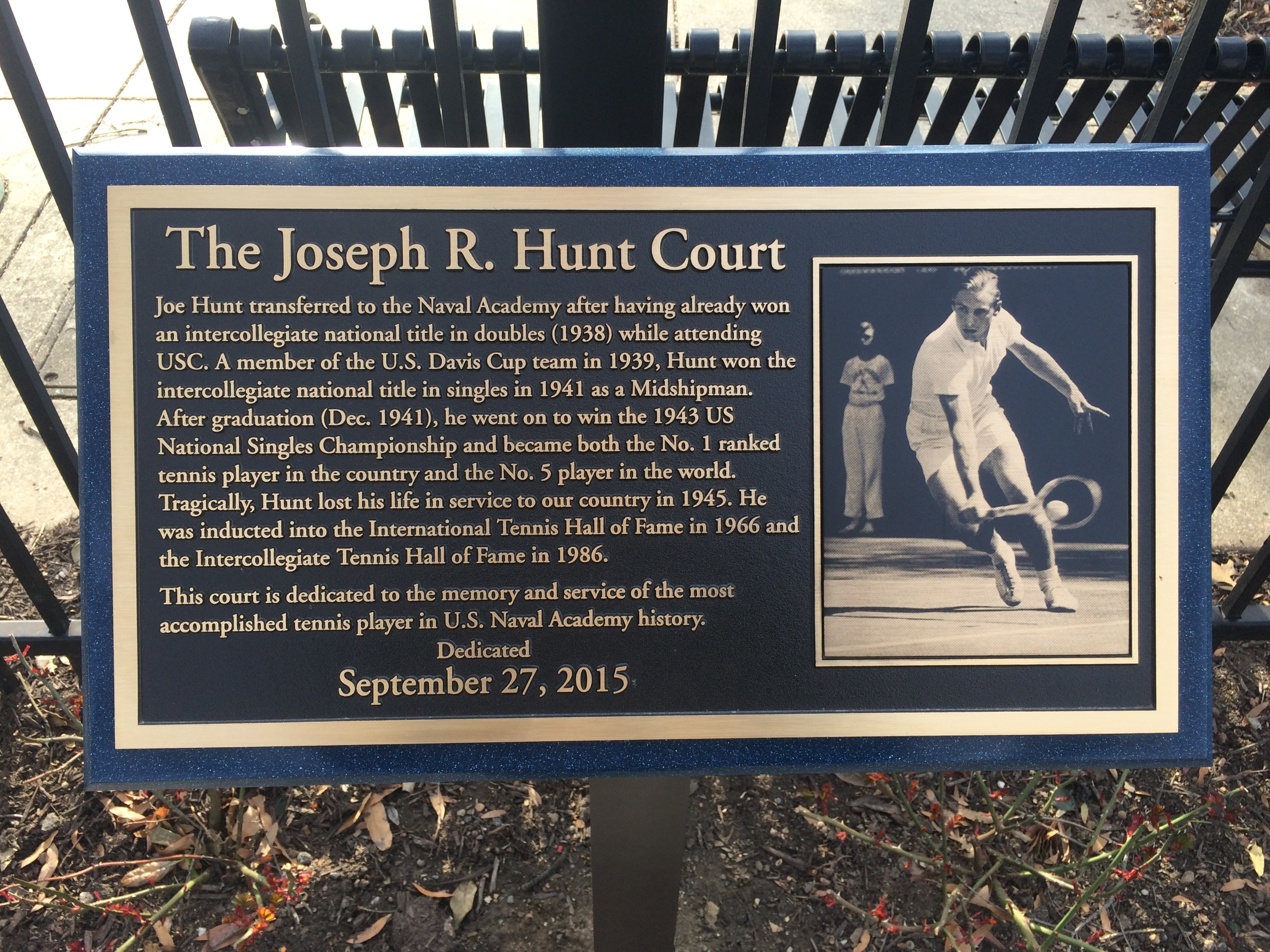 The Joseph R. Hunt Court Marker