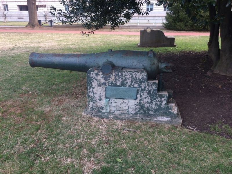 Dahlgren Rifle 30-Pounder, Invented by Rear Admiral Dahlgren Marker image. Click for full size.