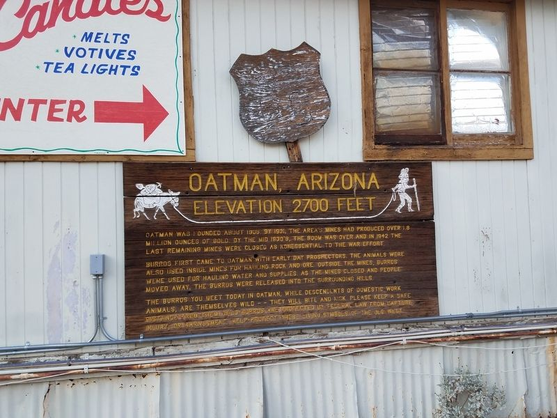 Oatman, Arizona Marker image. Click for full size.
