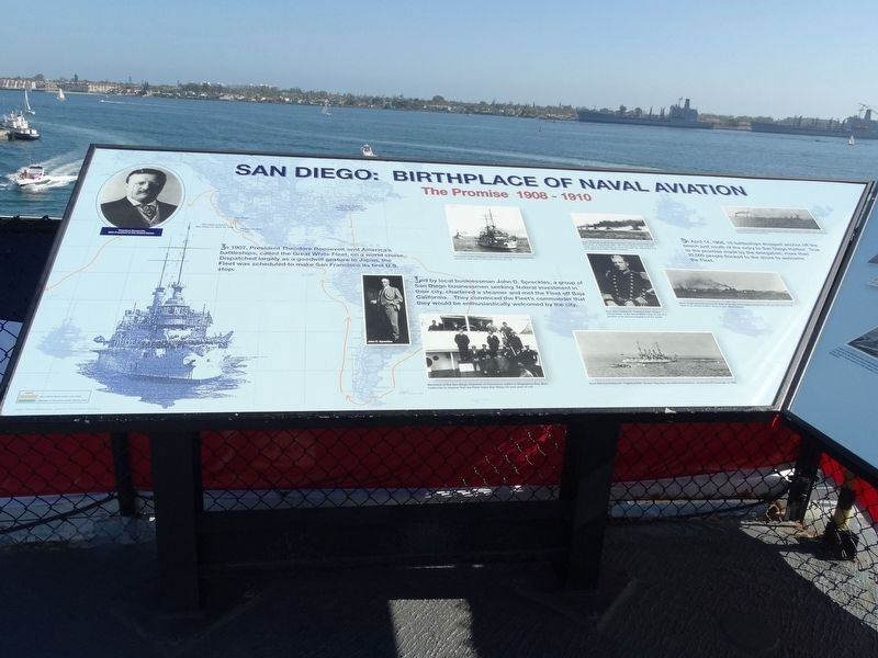 San Diego: Birthplace of Naval Aviation Marker image. Click for full size.