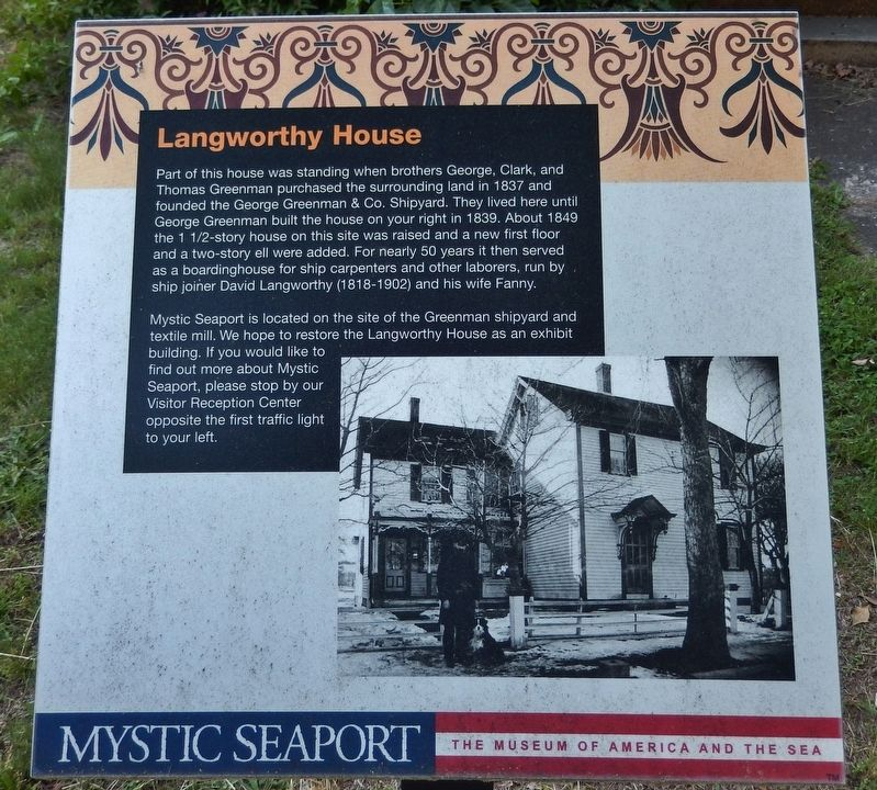 Langworthy House Marker image. Click for full size.