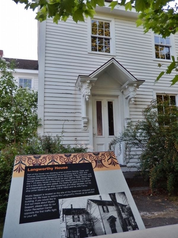 Langworthy House Marker (<i>tall view</i>) image. Click for full size.