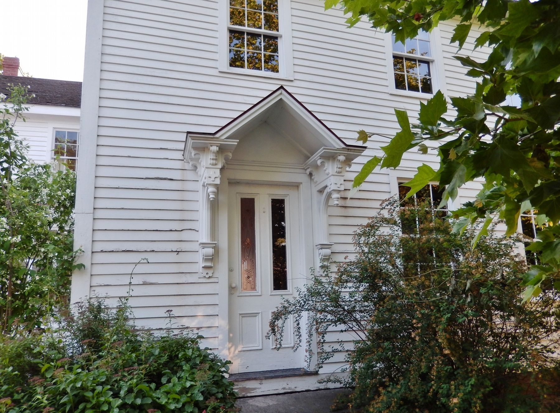 Langworthy House (<i>front door; view from marker</i>) image. Click for full size.