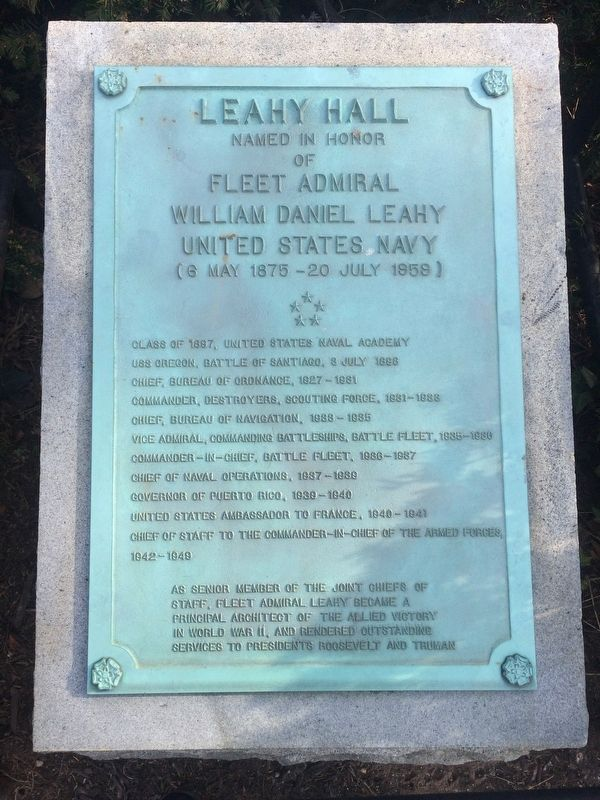 Leahy Hall Marker image. Click for full size.