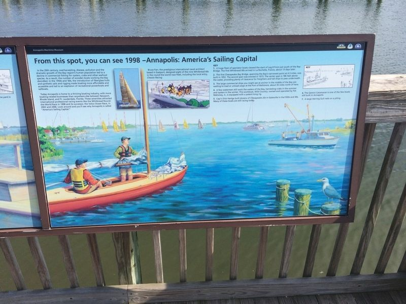 From this spot, you can see 1998 - Annapolis: America's Sailing Capital Marker image. Click for full size.