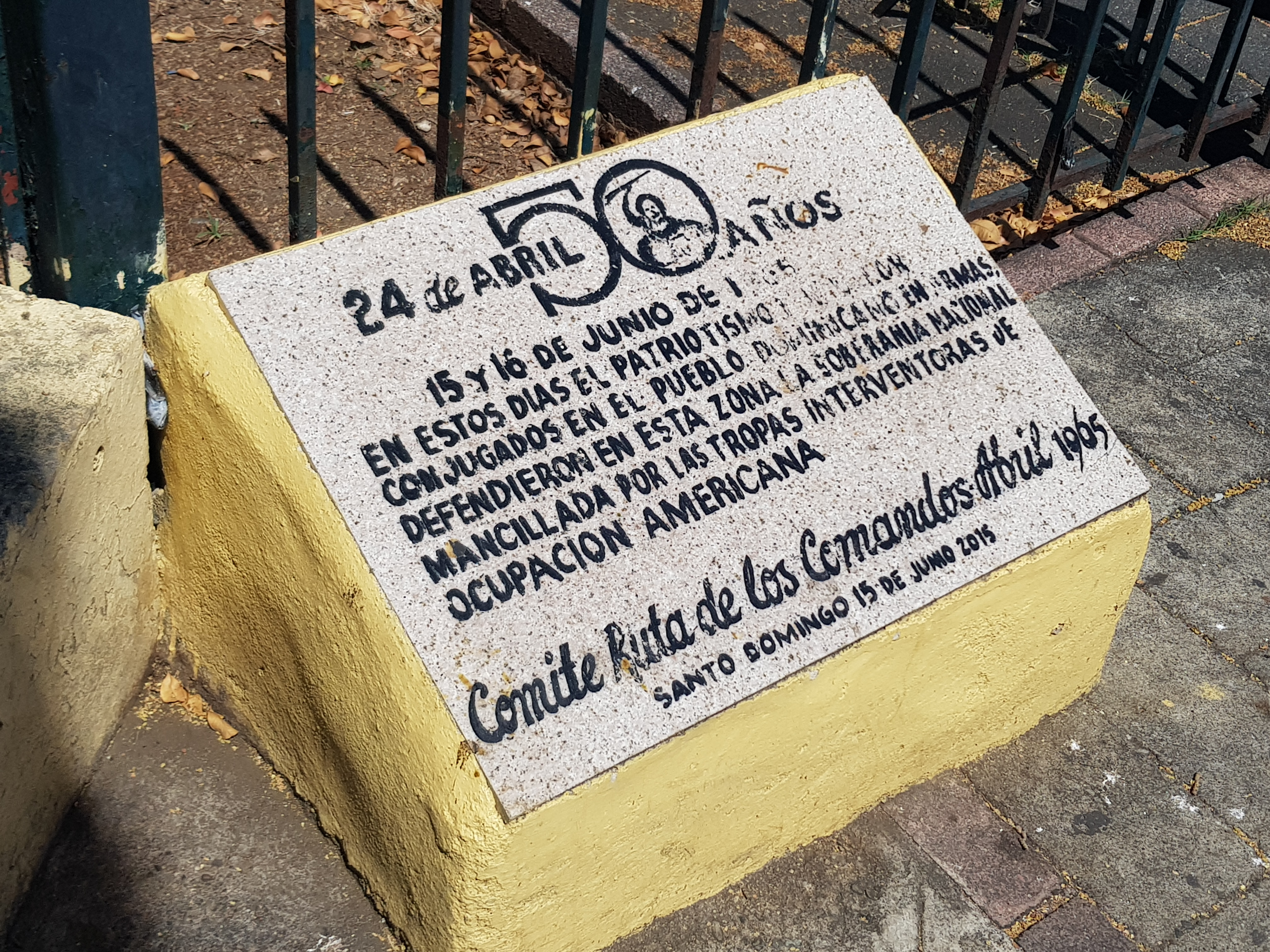 Dominican Resistance to the US Invasion of 1965 Marker