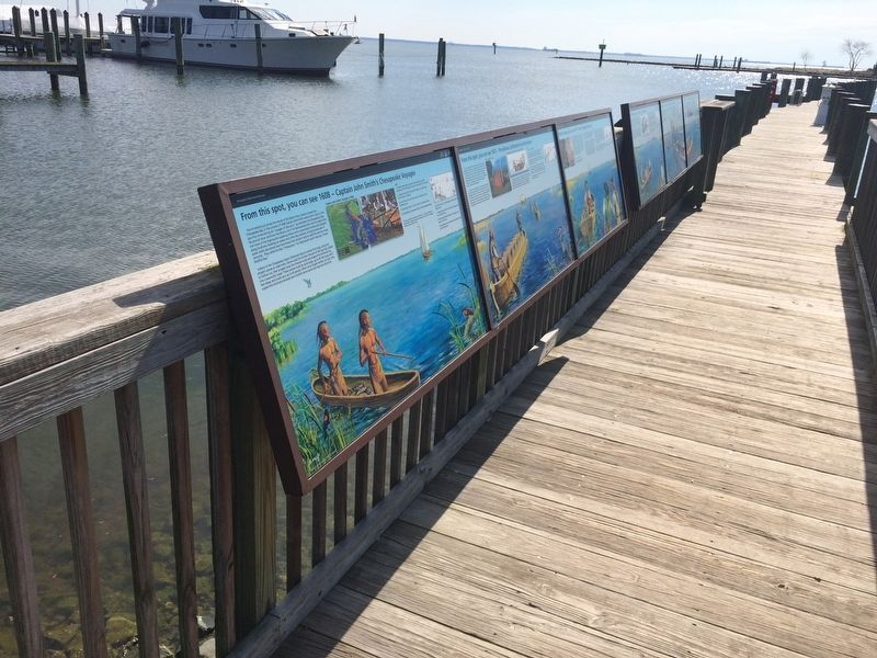 From this spot, you can see 1608 - Captain John Smith's Chesapeake Voyages Marker image. Click for full size.