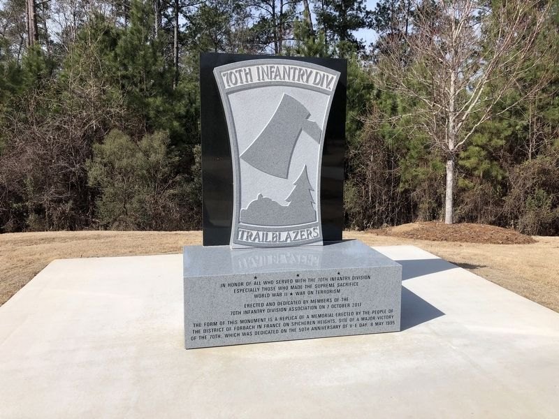 70th Infantry Div. Monument (rear) image. Click for full size.