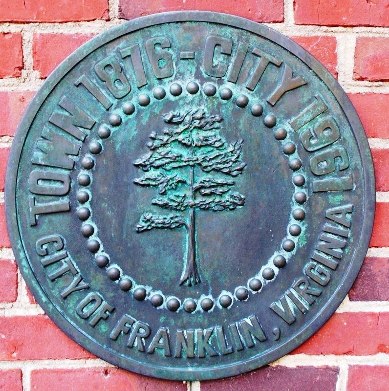Detail of the City of Franklin seal. image. Click for full size.